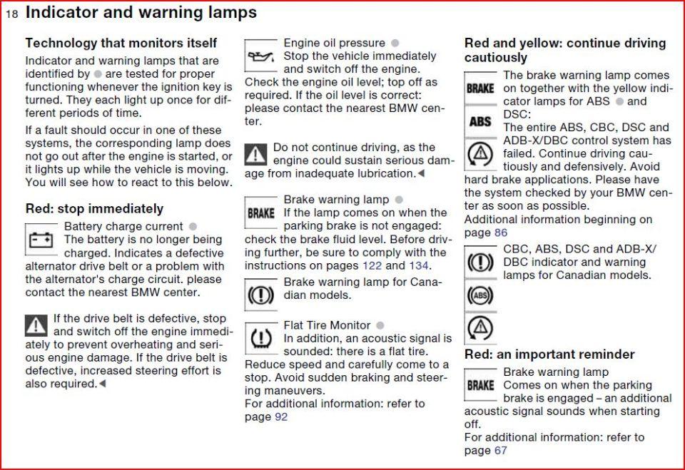 325 warning lights 1